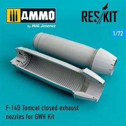F-14D Tomcat closed exhaust nozzles - Scale 1/72 - Reskit - RSU72-0075