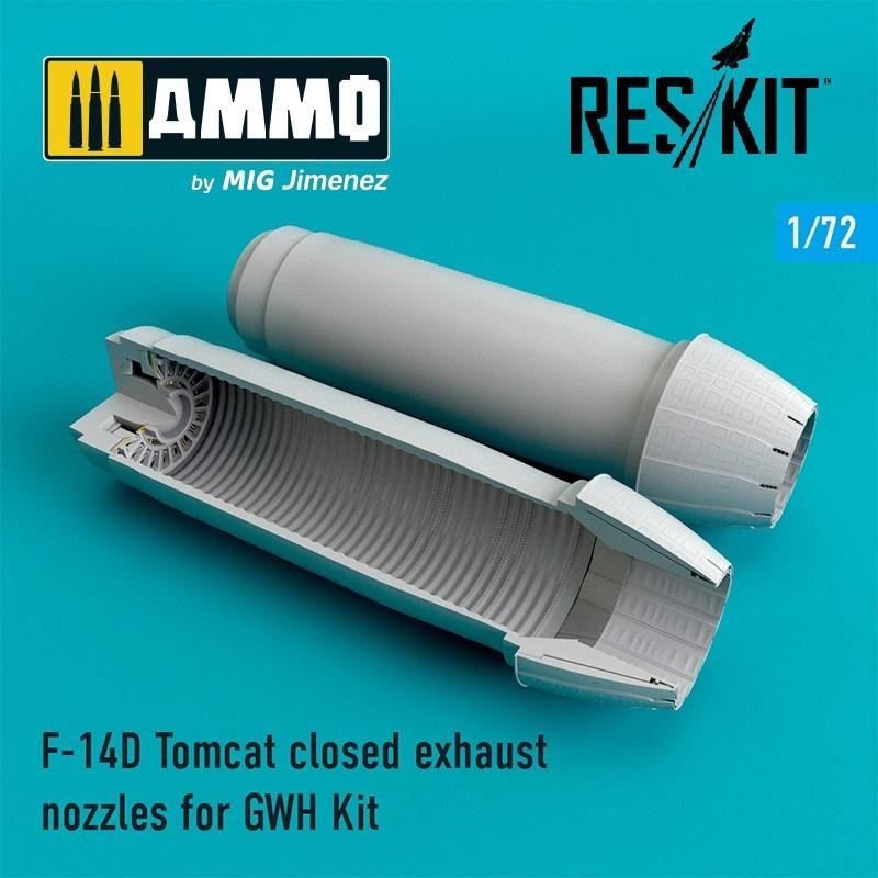 Reskit F-14D Tomcat closed exhaust nozzles - Scale 1/72 - Reskit - RSU72-0075