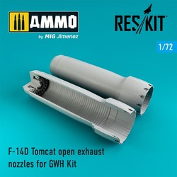 F-14D Tomcat open exhaust nozzles - Scale 1/72 - Reskit - RSU72-0074