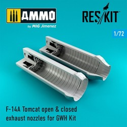 F-14A Tomcat open & closed exhaust nozzles - Scale 1/72 - Reskit - RSU72-0064
