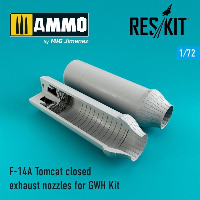 Reskit F-14A Tomcat closed exhaust nozzles - Scale 1/72 - Reskit - RSU72-0063