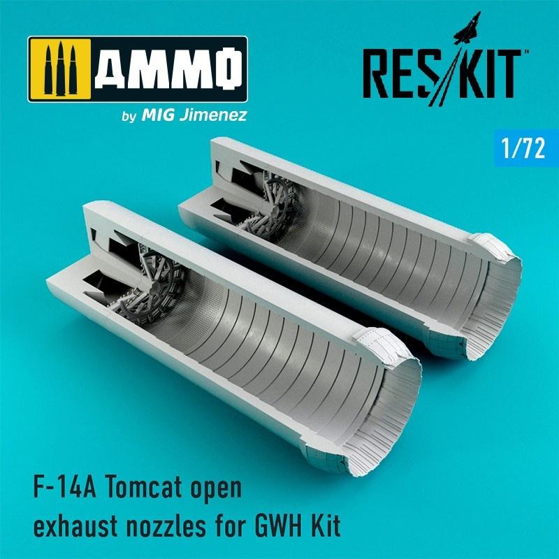 Reskit F-14A Tomcat open exhaust nozzles - Scale 1/72 - Reskit - RSU72-0062