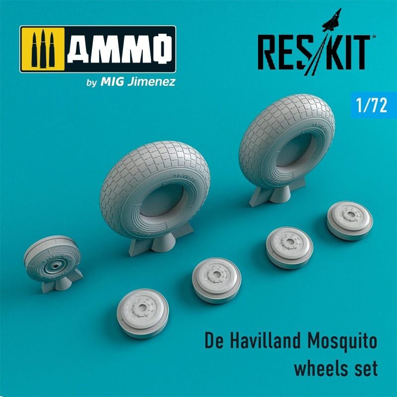Reskit De Havilland Mosquito wheels set - Scale 1/72 - Reskit - RS72-0240