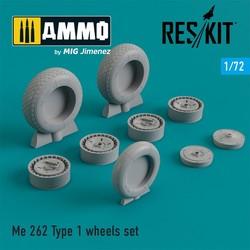 Me.262 Type 1 wheels set - Scale 1/72 - Reskit - RS72-0204