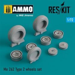 Me.262 Type 2 wheels set - Scale 1/72 - Reskit - RS72-0205