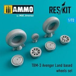 TBM-3 Avenger Land based wheels set - Scale 1/72 - Reskit - RS72-0230