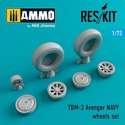 TBM-3 Avenger NAVY wheels set - Scale 1/72 - Reskit - RS72-0231
