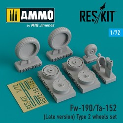 Fw-190/Ta-152 (Late version) Type 2 wheels set - Scale 1/72 - Reskit - RS72-0152