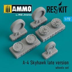 A-4 Skyhawk late version wheels set - Scale 1/72 - Reskit - RS72-0130
