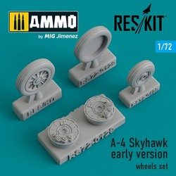 A-4 Skyhawk early version wheels set - Scale 1/72 - Reskit - RS72-0129