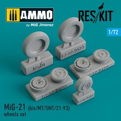 MiG-21 (bis/MT/SMT/21-93) wheels set - Scale 1/72 - Reskit - RS72-0123