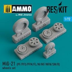 MiG-21 (PF/PFS/PFM/FL/M/MF/MFN/SM/R) wheels set - Scale 1/72 - Reskit - RS72-0122