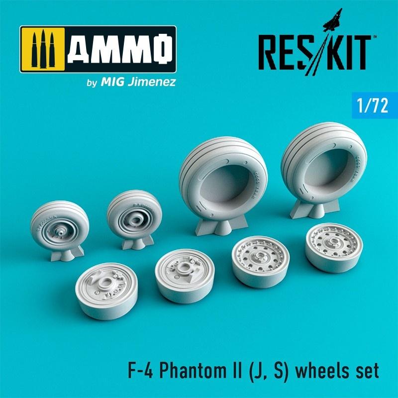 Reskit F-4 Phantom II (J, S) wheels set - Scale 1/72 - Reskit - RS72-0066