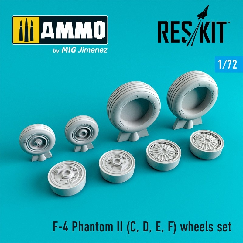 Reskit F-4 Phantom II (C, D, E, F,G) wheels set - Scale 1/72 - Reskit - RS72-0065
