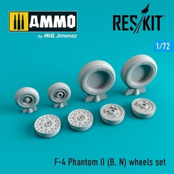 F-4 Phantom II (B, N) wheels set - Scale 1/72 - Reskit - RS72-0064