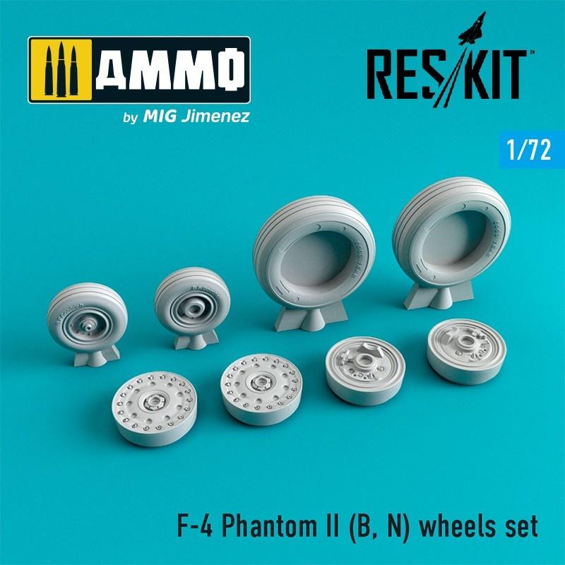 Reskit F-4 Phantom II (B, N) wheels set - Scale 1/72 - Reskit - RS72-0064