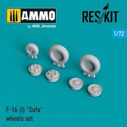 "F-16 (I) ""Sufa"" wheels set - Scale 1/72 - Reskit - RS72-0026"