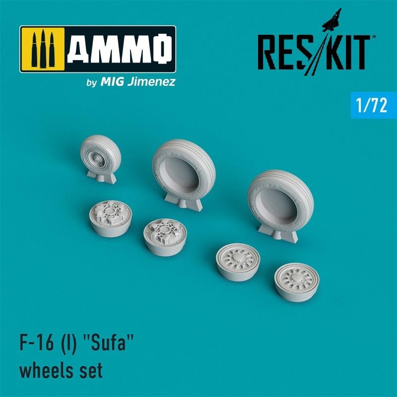 "Reskit F-16 (I) ""Sufa"" wheels set - Scale 1/72 - Reskit - RS72-0026"