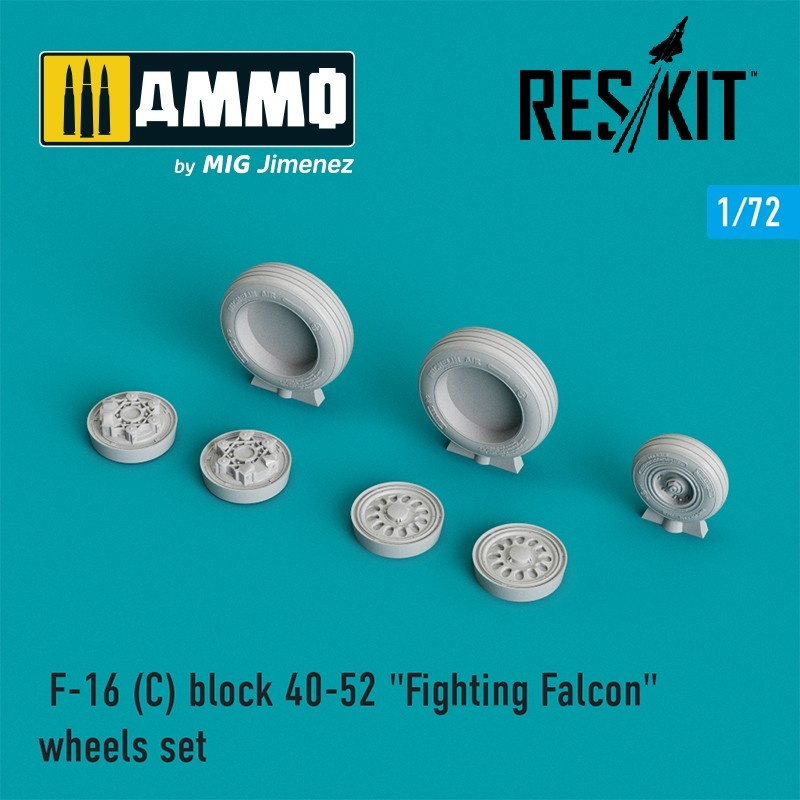 "Reskit F-16 (C) block 40-52 ""Fighting Falcon"" wheels set  - Scale 1/72 - Reskit - RS72-0025"