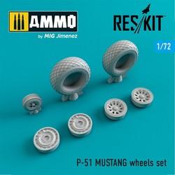 P-51 MUSTANG wheels set  - Scale 1/72 - Reskit - RS72-0012