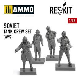 Soviet tank crew set (WW2) - Scale 1/48 - Reskit - RSF48-0004