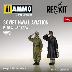 Soviet Naval Aviation pilot & land crew (WW2) - Scale 1/48 - Reskit - RSF48-0003