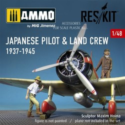 Japanese pilot & land crew 1937-1945 (WW2) - Scale 1/48 - Reskit - RSF48-0002
