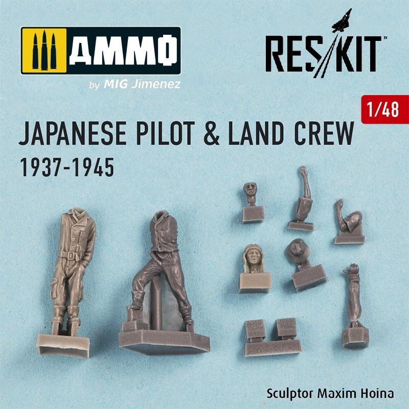 Reskit Japanese pilot & land crew 1937-1945 (WW2) - Scale 1/48 - Reskit - RSF48-0002
