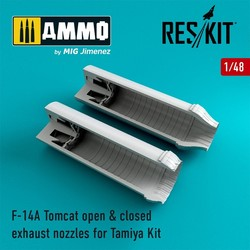 F-14A Tomcat open & closed exhaust nozzles - Scale 1/48 - Reskit - RSU48-0081