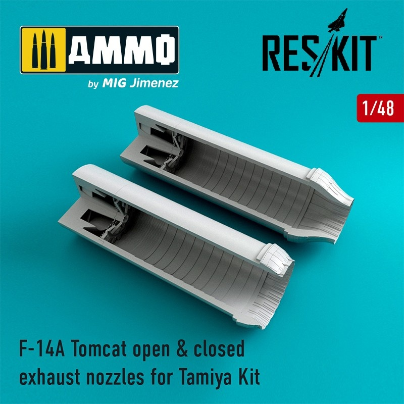 Reskit F-14A Tomcat open & closed exhaust nozzles - Scale 1/48 - Reskit - RSU48-0081