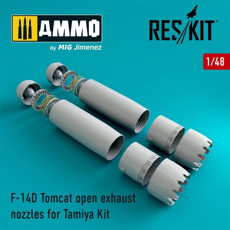 Reskit F-14D Tomcat open exhaust nozzles - Scale 1/48 - Reskit - RSU48-0067