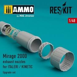 Mirage 2000 exhaust nozzles - Scale 1/48 - Reskit - RSU48-0017