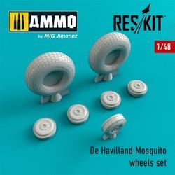 De Havilland Mosquito wheels set - Scale 1/48 - Reskit - RS48-0240