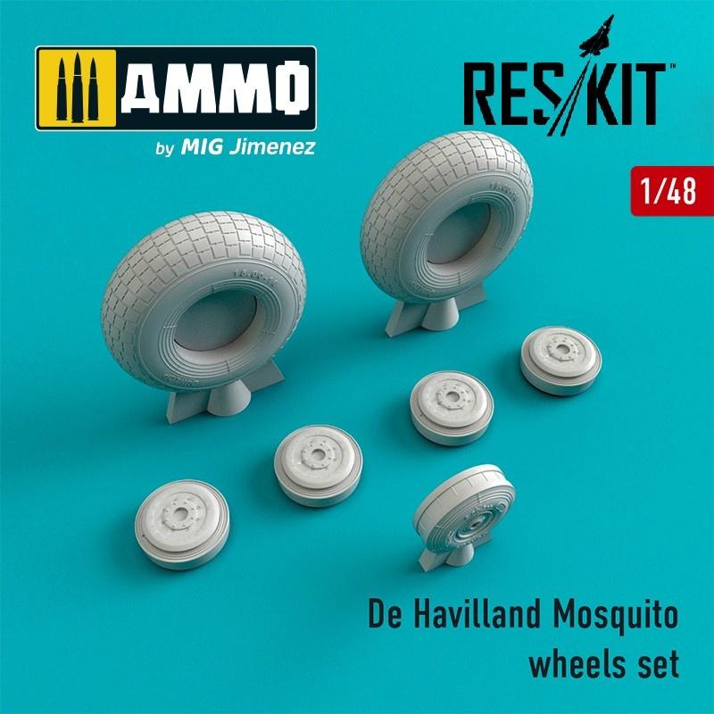 Reskit De Havilland Mosquito wheels set - Scale 1/48 - Reskit - RS48-0240