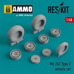 Me.262 Type 2 wheels set - Scale 1/48 - Reskit - RS48-0205