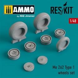 Me.262 Type 1 wheels set - Scale 1/48 - Reskit - RS48-0204