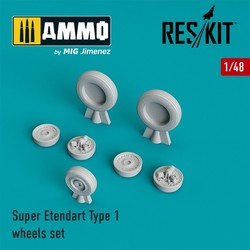 Super Etendard Type 1 wheels set - Scale 1/48 - Reskit - RS48-0194