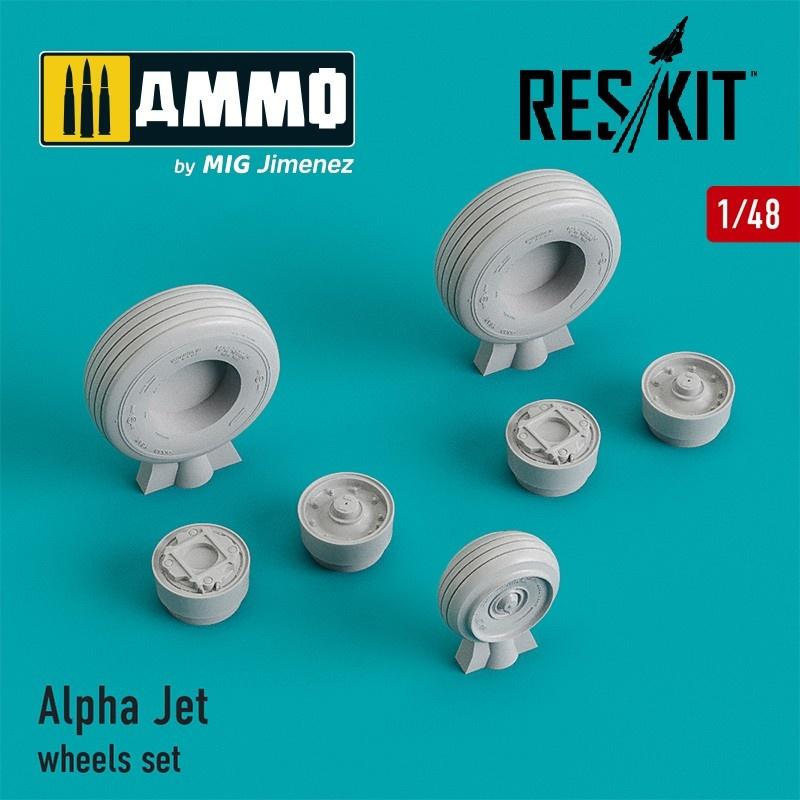 Reskit Alpha Jet wheels set - Scale 1/48 - Reskit - RS48-0190