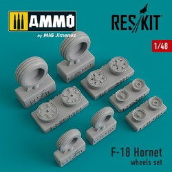 F-18 Hornet wheels set - Scale 1/48 - Reskit - RS48-0125