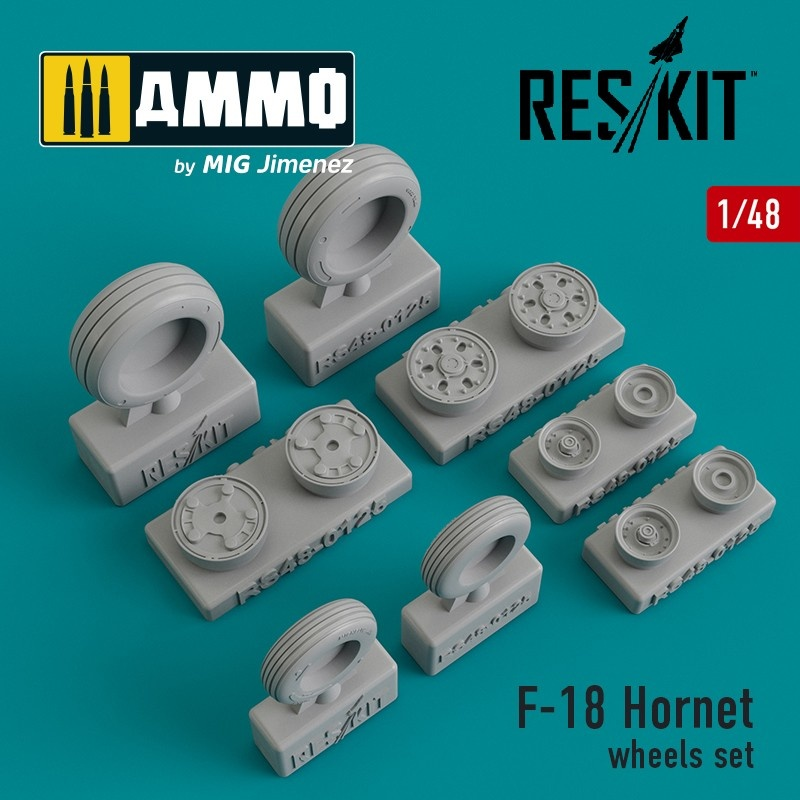 Reskit F-18 Hornet wheels set - Scale 1/48 - Reskit - RS48-0125