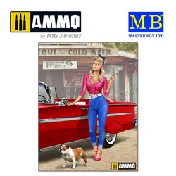 Pin-up series. A short stop. Kit No. 1 - Scale 1/24 - Masterbox Ltd - MBLTD24015