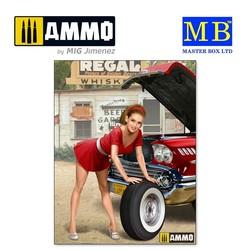 Pin-up series. A short stop. Kit No. 3 - Scale 1/24 - Masterbox Ltd - MBLTD24017