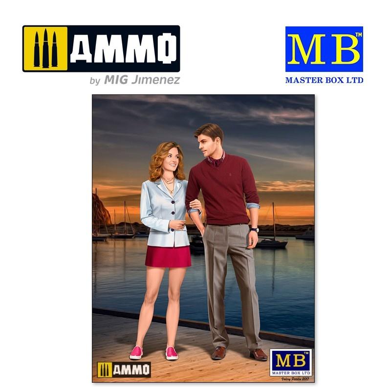 Master Box Ltd Bob and Sally - The Happy Couple - Scale 1/24 - Masterbox Ltd - MBLTD24029