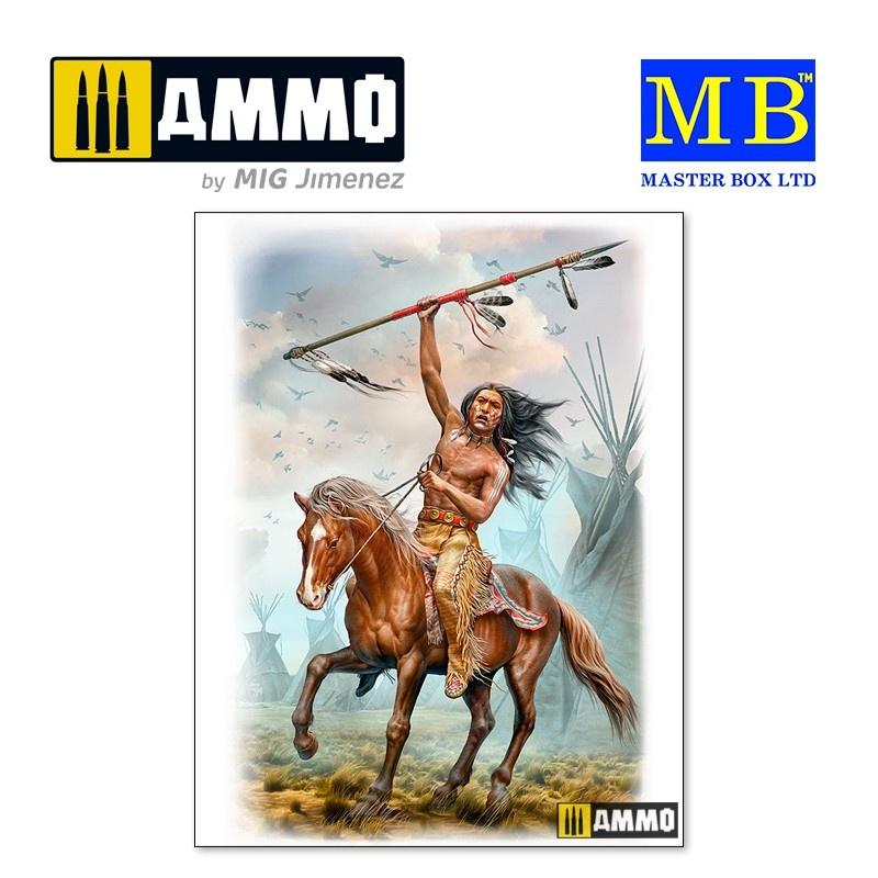 Master Box Ltd Buffalo Hunter. Running Bear - Scale 1/24 - Masterbox Ltd - MBLTD24048