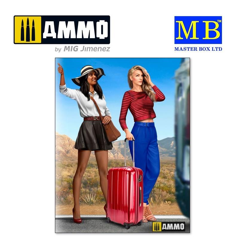 Master Box Ltd Hitchhikers, Erica & Kery - Scale 1/24 - Masterbox Ltd - MBLTD24041