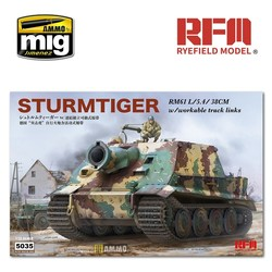 Sturmtiger with Workable Track Links - Scale 1/35 - Reye Field Models - RFM5035