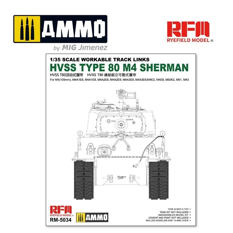 Reye Field Models Hvss t80-track for M4 Sherman - Scale 1/35 - Reye Field Models - RFM5034