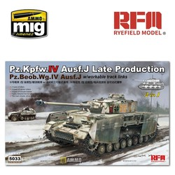 PZ.KPFW.IV AUSF.J Late Production/PZ.BEOB.WG.IV AUSF.J 2 in 1 with Workable Track Links  - Scale 1/35 - Reye Field Models - RFM5033