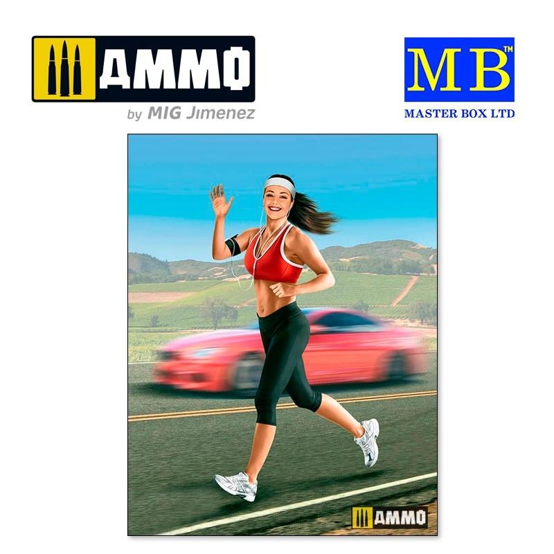 Master Box Ltd Jogging some miles. Tyra - Scale 1/24 - Masterbox Ltd - MBLTD24050