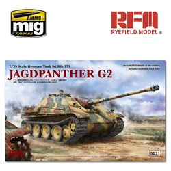Jagdpanther G2 with Workable Track Links - Scale 1/35 - Reye Field Models - RFM5031